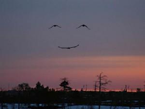 God smiling